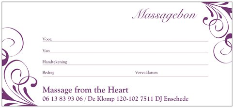 Massagebon Massage from the Heart